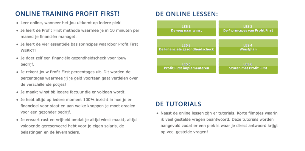 Profit First online training